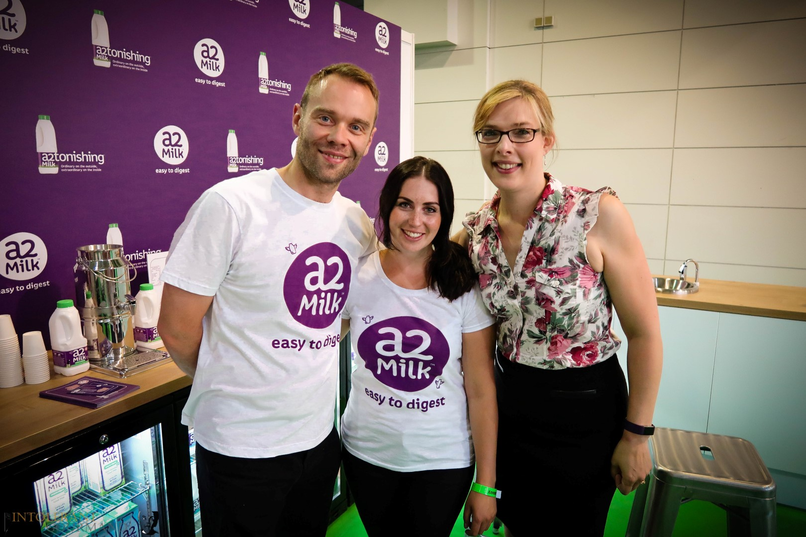 Allergy Show London 2017 - part of the team at a2 Milk working at the Allergy Show London Olympia! www.intolerantgourmand.com