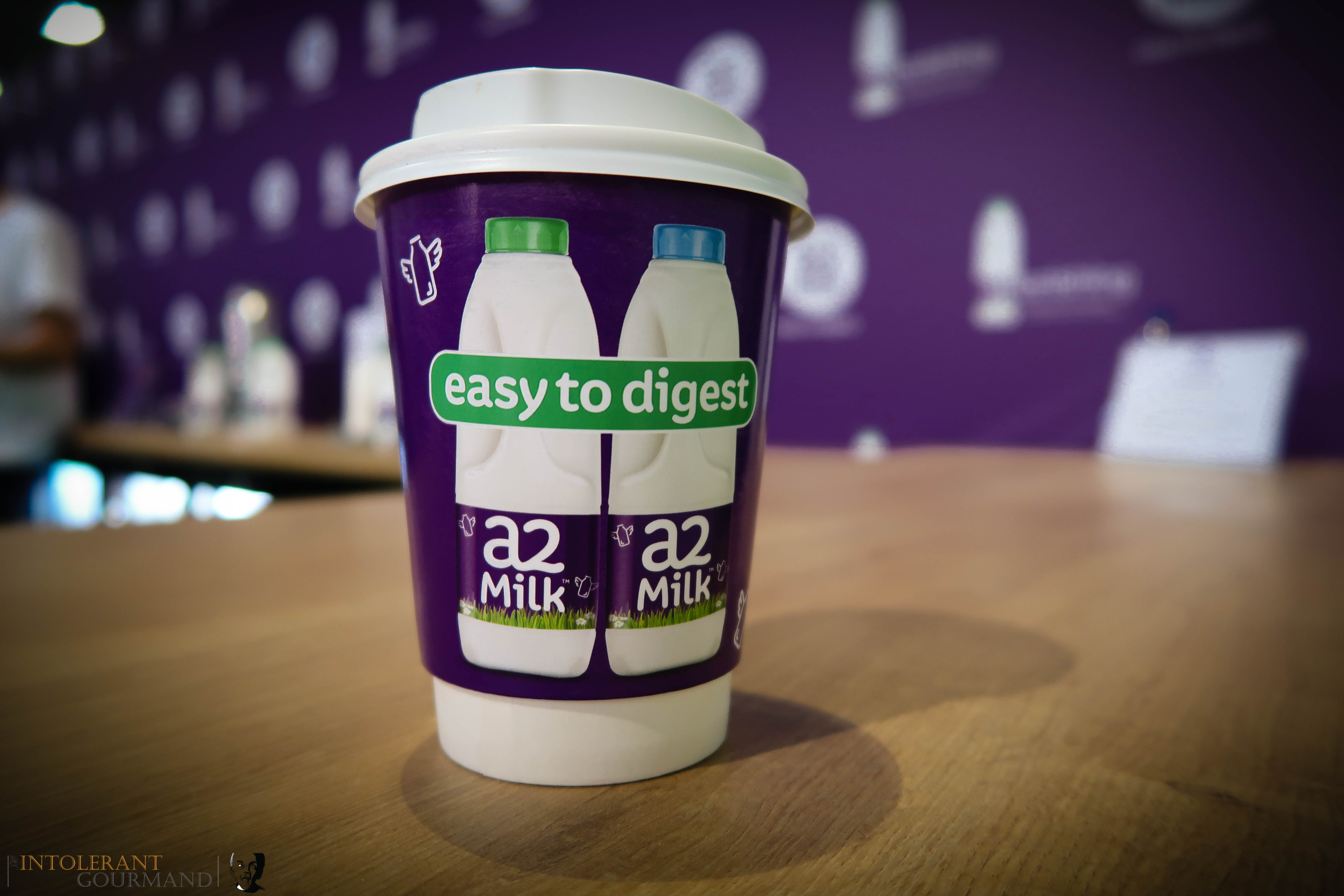 Allergy Show London 2017 - a2 Milk sponsored the Free From Cafe at the Allegry Show. This is a delicious latte made using a2 Milk! www.intolerantgourmand.com