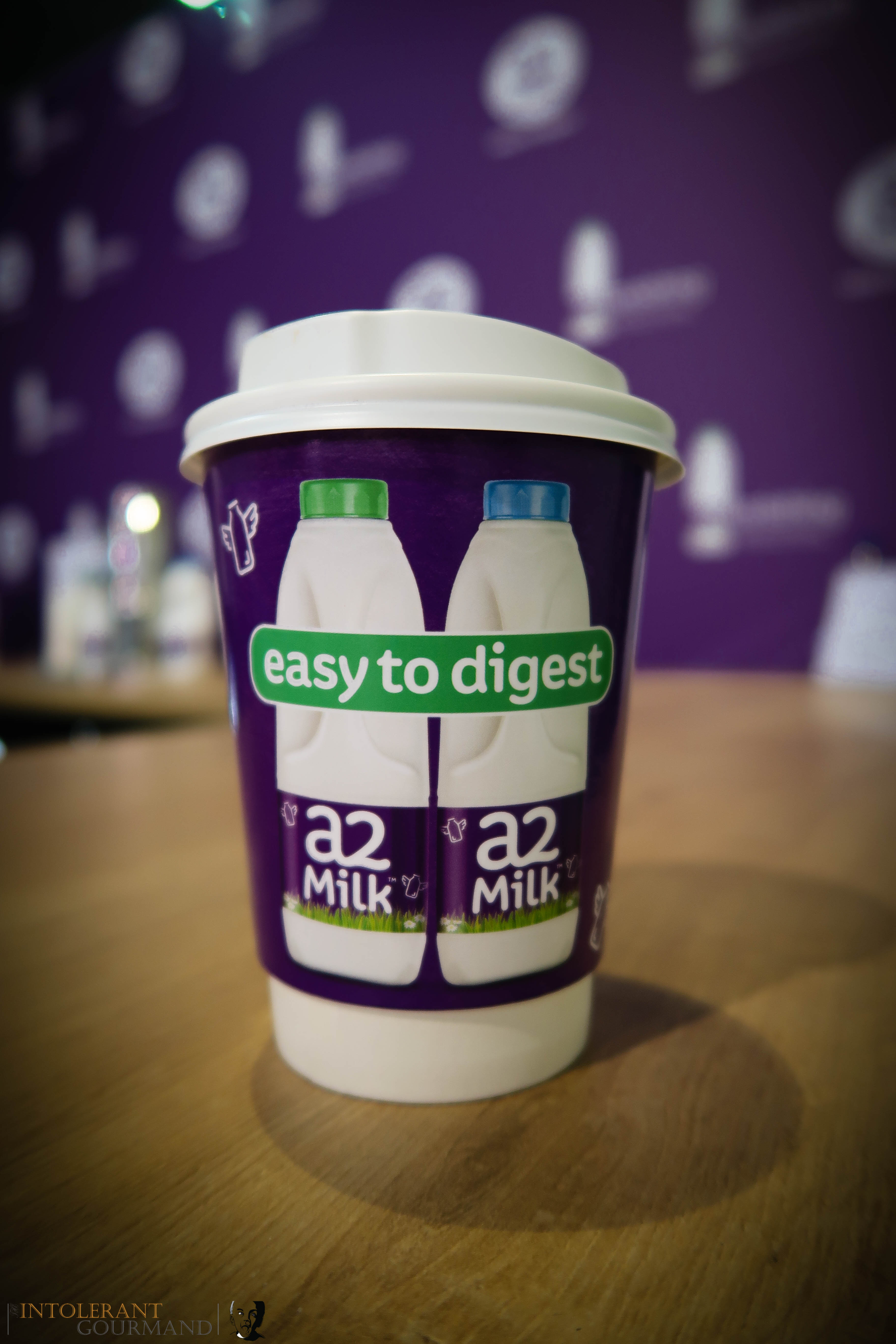 Allergy Show London 2017 - the Free From Cafe at the Allergy Show was sponsored by a2 Milk! This was a delicious latte made with a2 Milk! www.intolerantgourmand.com