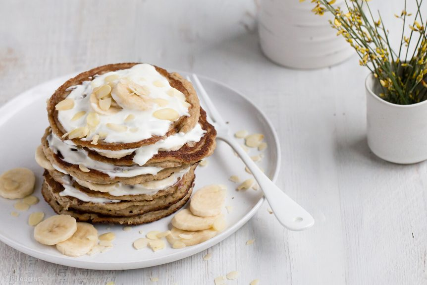 Paleo Crust - Almond and banana pancakes