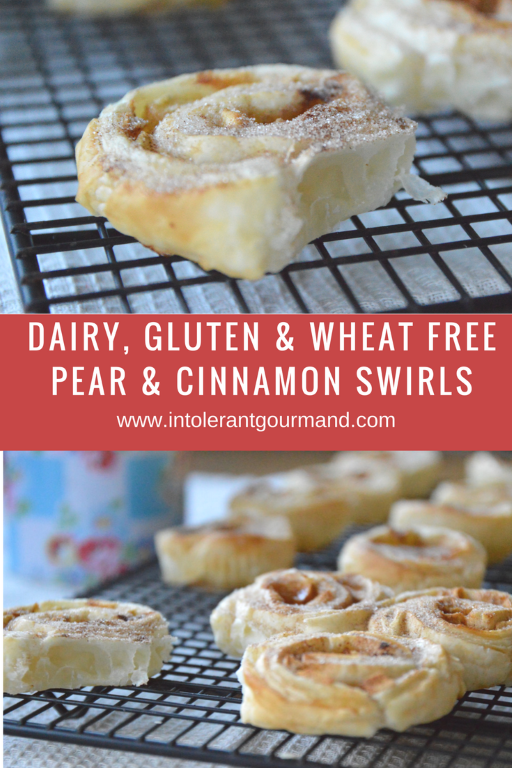 Pear Cinnamon swirls - dairy-free, gluten-free, wheat-free! A perfect breakfast alternative or treat! www.intolerantgourmand.com