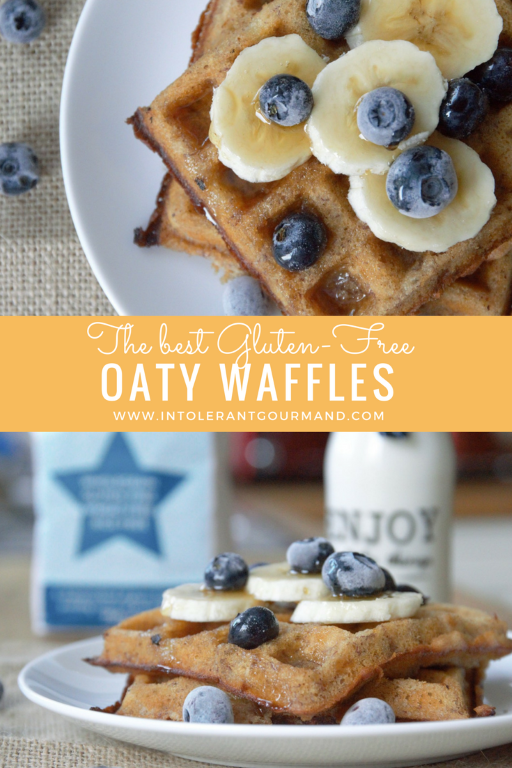Oaty Waffles - a delicious alternative for breakfast! Gluten-free, simple and quick to make, and super tasty! www.intolerantgourmand.com