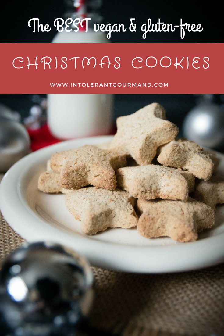 Christmas biscuits - the best vegan and gluten-free biscuits which are perfect for christmas! With a delicious comforting cinnamon flavour, these will be a big hit with everyone! Eat straight away, or use as homemade presents! www.intolerantgourmand.com