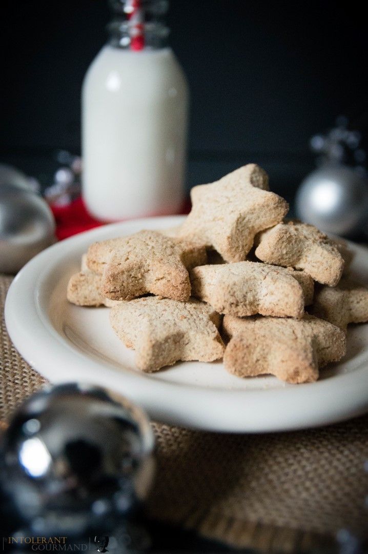 Vegan Christmas Biscuits - delicious biscuits with a comforting cinnamon taste, quick and simple to make and perfect for Christmas! www.intolerantgourmand.com