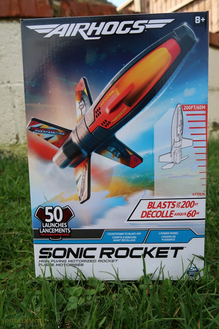 Air Hogs Sonic Rocket - the newest addition to the Air Hogs collection, boasting heights of 200ft when charged! www.intolerantgourmand.com